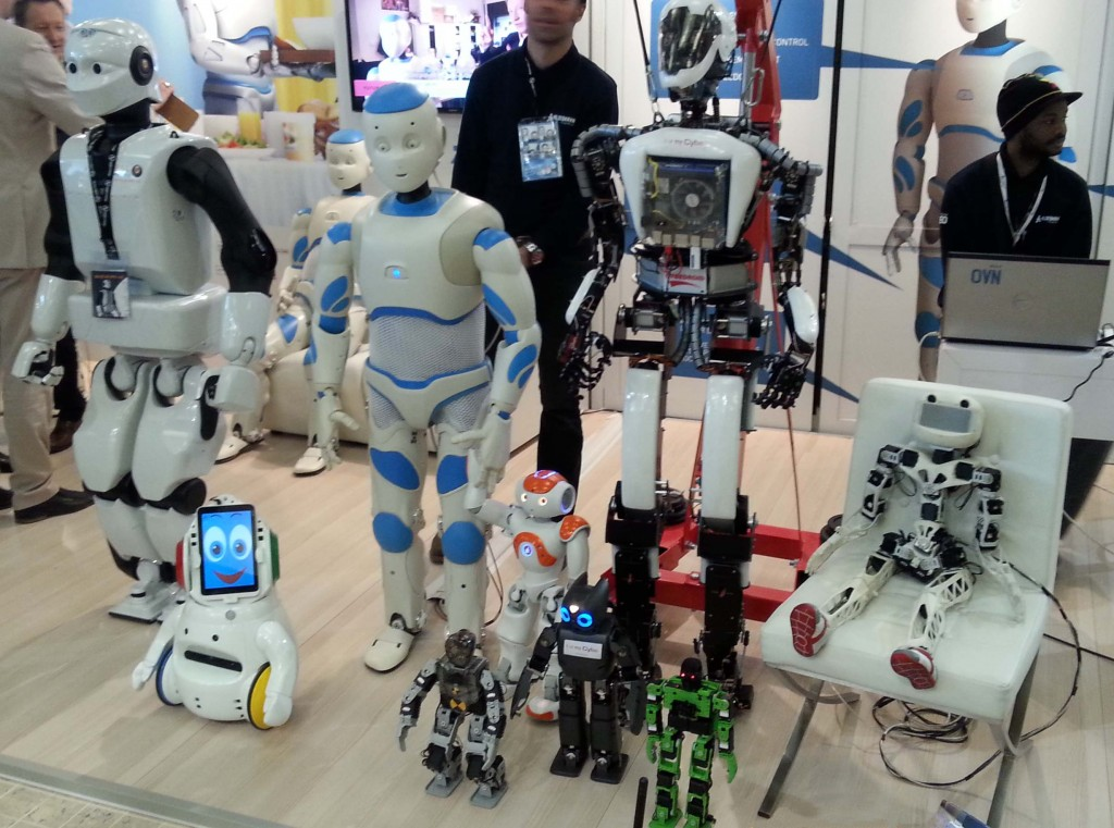 Humanoids at Innorobo 2014